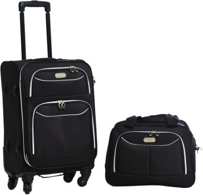 Bob Mackie Two Piece Set Black/Silver - Bob Mackie Luggage Sets