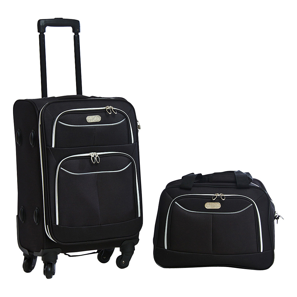 Bob Mackie Two Piece Set Black/Silver - Bob Mackie Luggage Sets