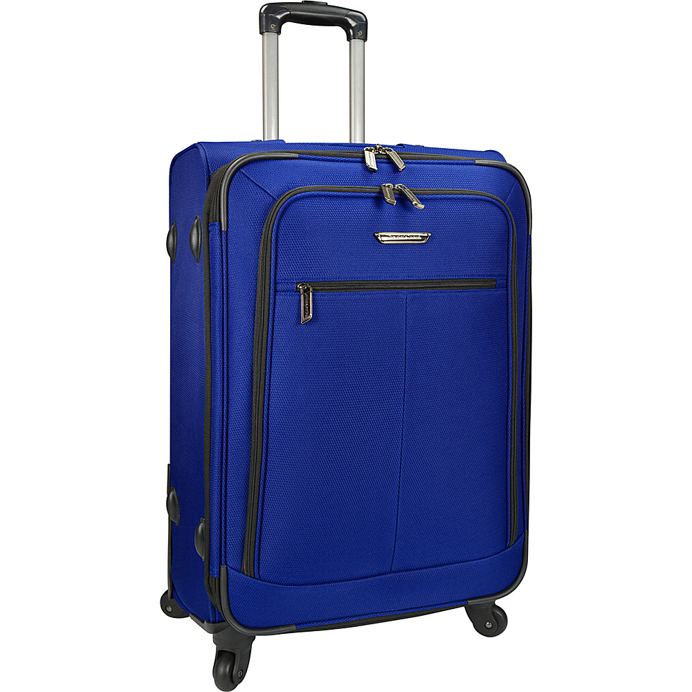 Traveler s Choice Merced Lightweight 27 Spinner Luggage Cobalt Blue G Traveler s Choice Softside Checked