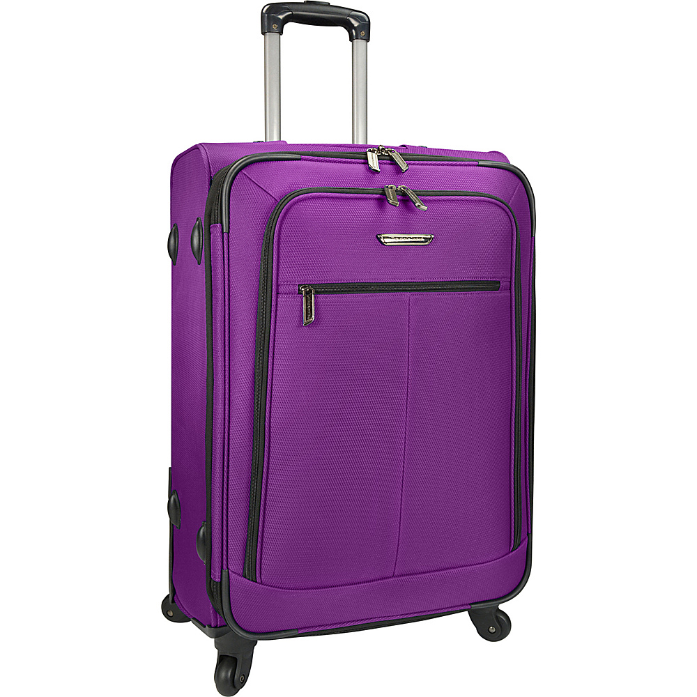 Traveler s Choice Merced Lightweight 27 Spinner Luggage Purple Traveler s Choice Softside Checked