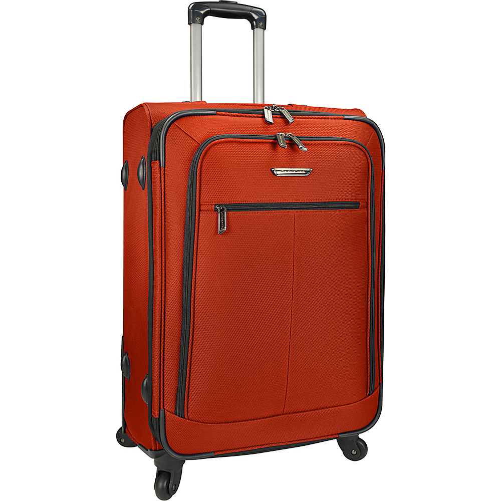 Traveler s Choice Merced Lightweight 27 Spinner Luggage Orange Traveler s Choice Softside Checked
