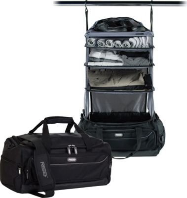 Rise Gear Weekender Travel Bag with Collapsible Shelves Grey - Rise Gear Rolling Duffels