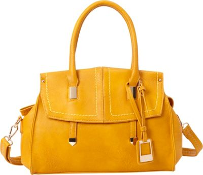SW Global Genie Satchel Bag Yellow - SW Global Manmade Handbags