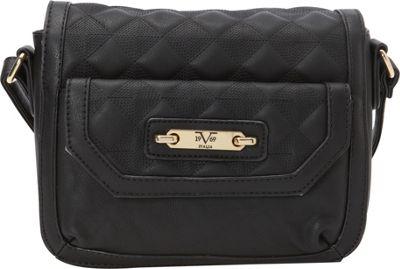 Image of 1969 V Italia Fortuna Crossbody Black - 1969 V Italia Manmade Handbags