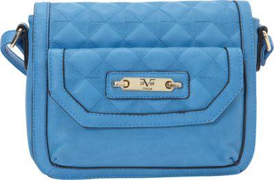 Image of 1969 V Italia Fortuna Crossbody Blueberry - 1969 V Italia Manmade Handbags
