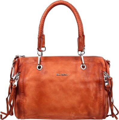 Old Trend Walnut Satchel Cognac - Old Trend Leather Handbags