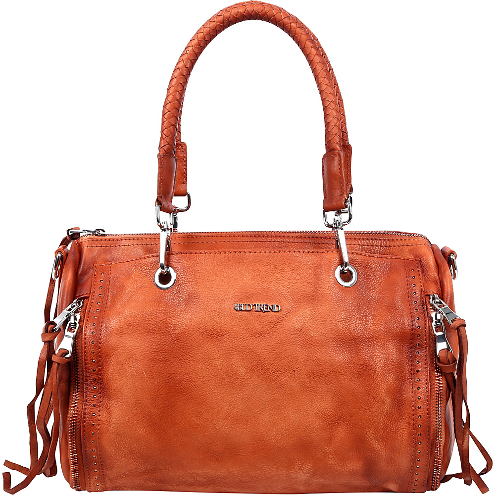 Old Trend Walnut Satchel Cognac Old Trend Leather Handbags