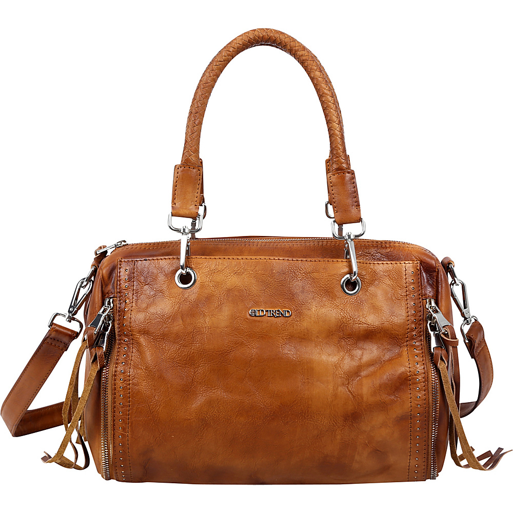Old Trend Walnut Satchel Tan Old Trend Leather Handbags