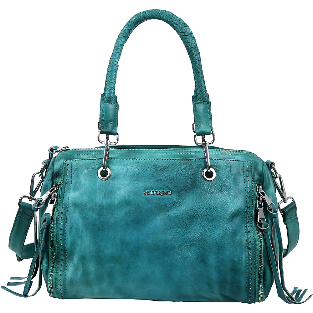 Old Trend Walnut Satchel Aqua Old Trend Leather Handbags