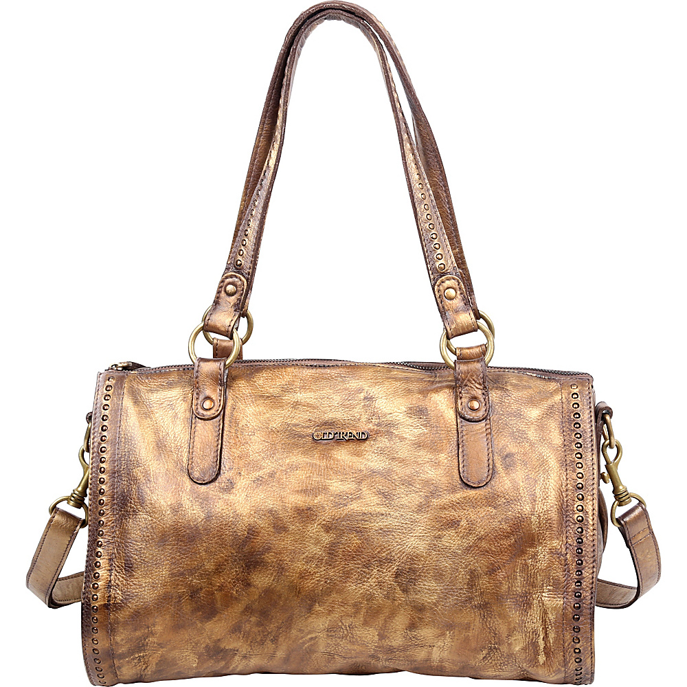 Old Trend Leaf Satchel Vintage Gold Old Trend Leather Handbags