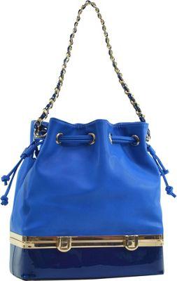 Dasein Structured Bucket Bag Blue - Dasein Manmade Handbags