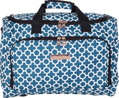 Jenni Chan Aria Broadway 17 inch Duffel Bag Green/Teal - Jenni Chan Travel Duffels