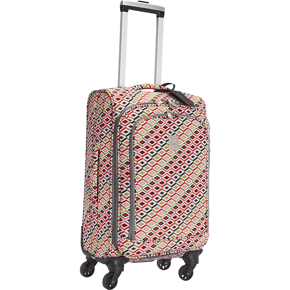 Jenni Chan Tiles 20 Upright Spinner Multi Jenni Chan Softside Carry On