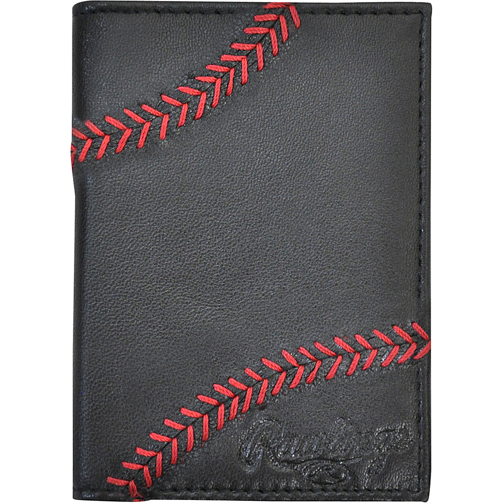 Rawlings Baseball Stitch Front Pocket Black Rawlings Men s Wallets
