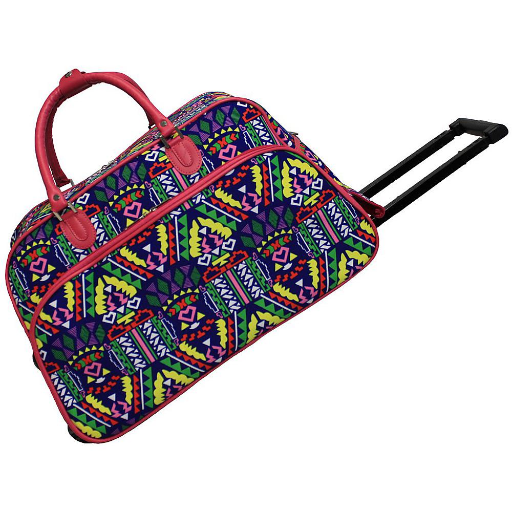 World Traveler Island 21 Rolling Duffel Bag Pink Trim Island - World Traveler Rolling Duffels - Luggage, Rolling Duffels