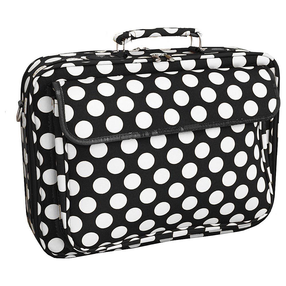 World Traveler Dots ll 17 Laptop Case Black White Dot II - World Traveler Non-Wheeled Business Cases - Work Bags & Briefcases, Non-Wheeled Business Cases