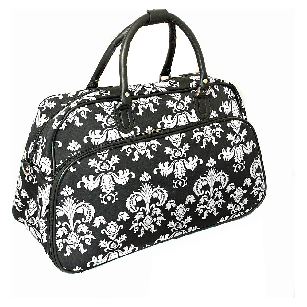 World Traveler Damask II 21 Carry-On Duffel Bag Black White Damask II - World Traveler Rolling Duffels - Luggage, Rolling Duffels
