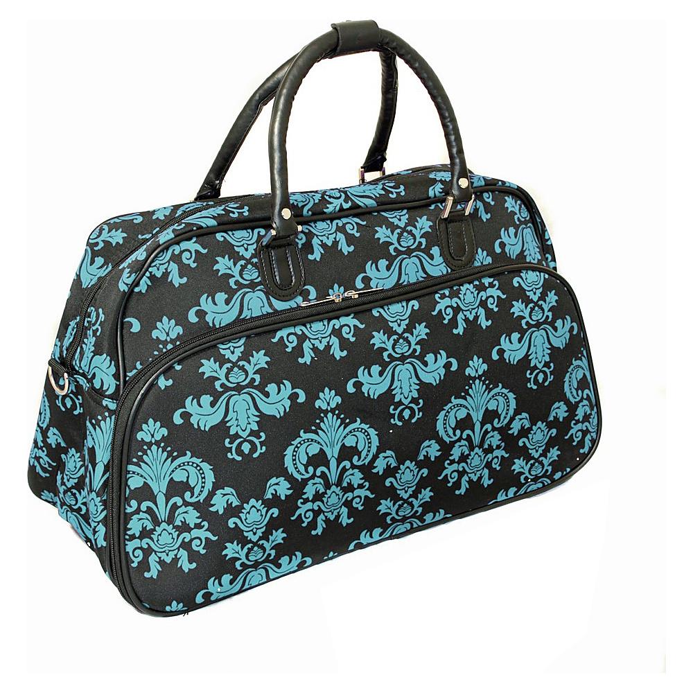 World Traveler Damask II 21 Carry-On Duffel Bag Black Blue Damask ll - World Traveler Rolling Duffels - Luggage, Rolling Duffels