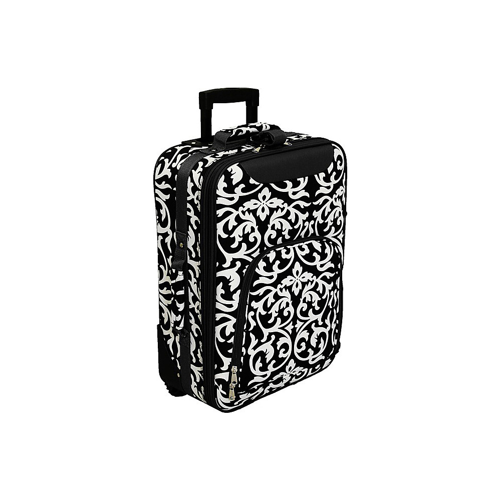 World Traveler Damask 20 Rolling Carry-On Black Trim Damask - World Traveler Softside Carry-On - Luggage, Softside Carry-On