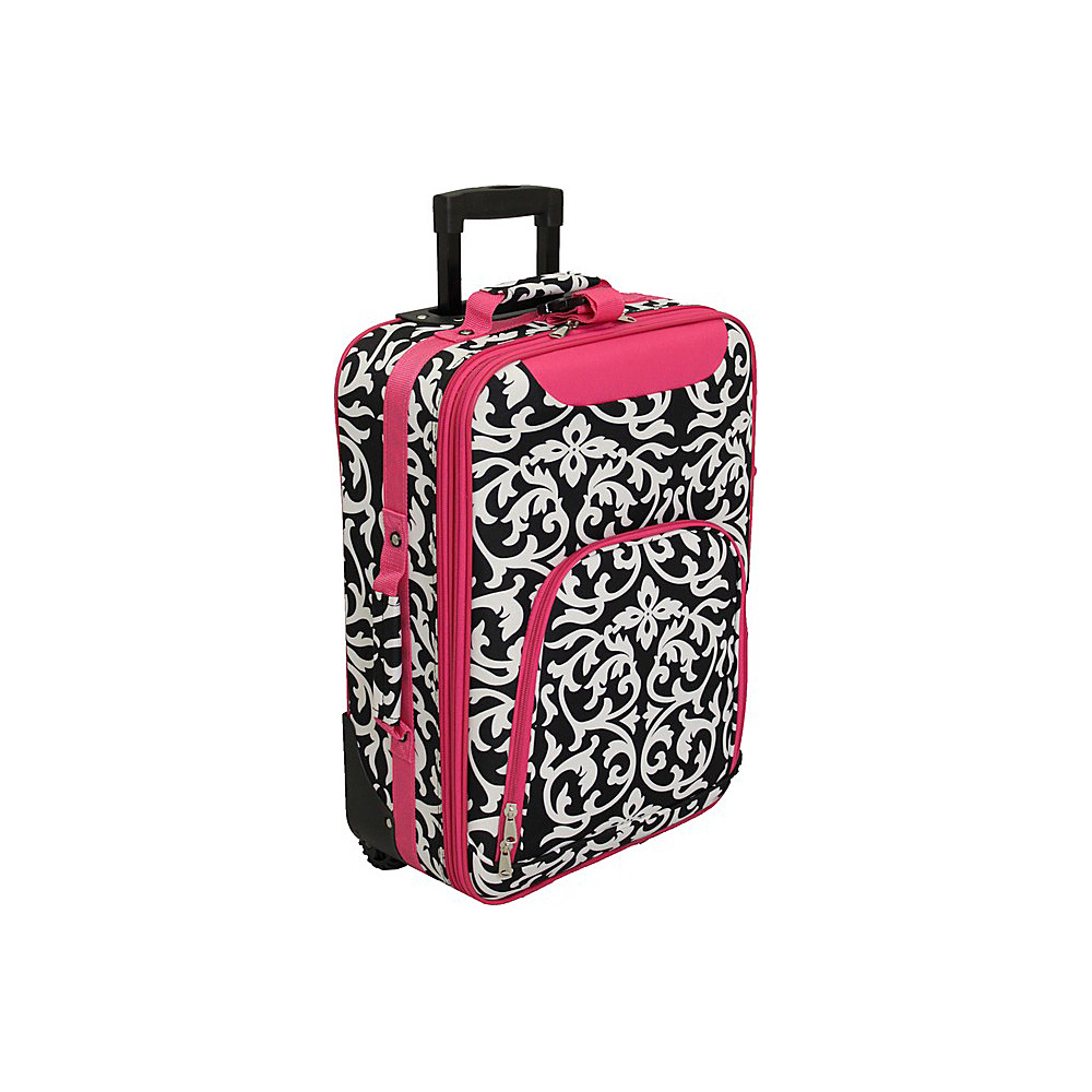 World Traveler Damask 20 Rolling Carry-On Fuchsia Trim Damask - World Traveler Softside Carry-On - Luggage, Softside Carry-On