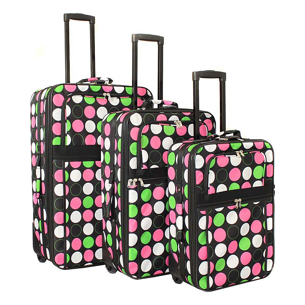 World Traveler New Multi Dot 3-Piece Expandable Upright Luggage Set New Multi Dot - World Traveler Luggage Sets - Luggage, Luggage Sets