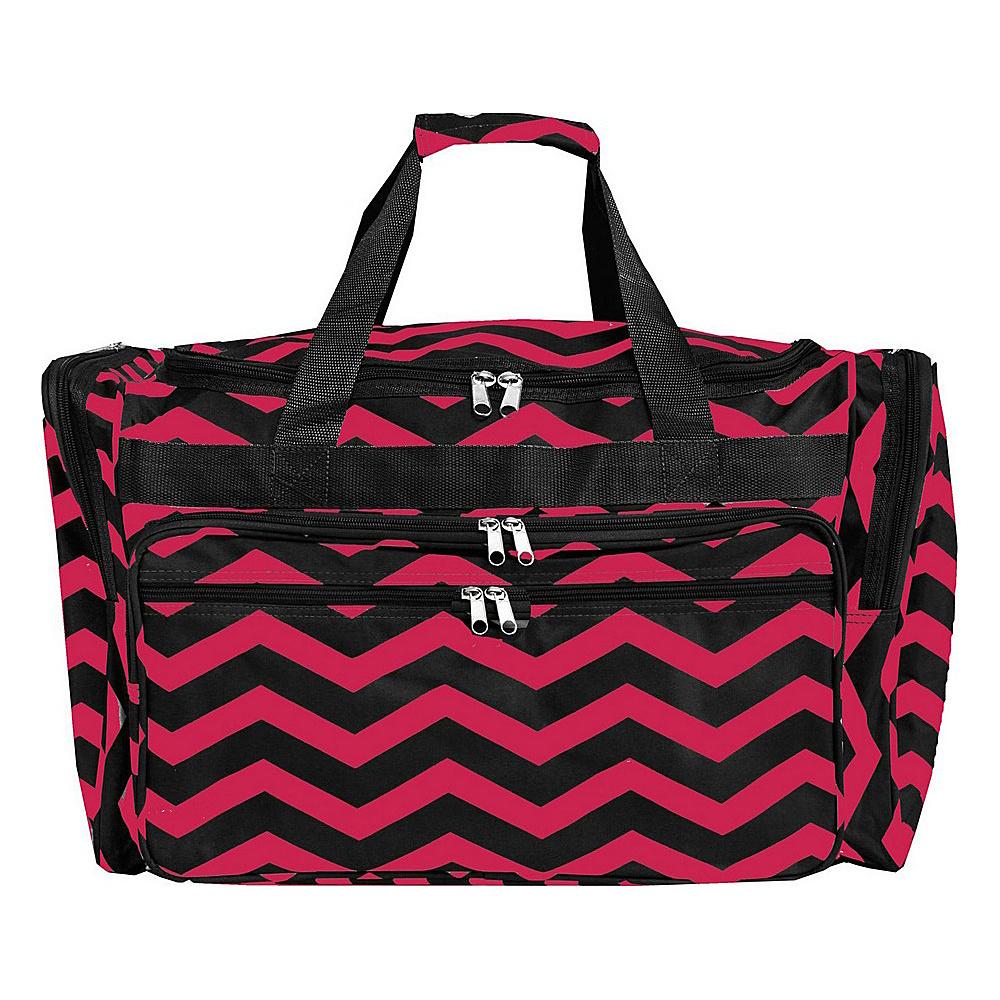 World Traveler Chevron 19 Shoulder Duffle Bag Fuchsia Black Chevron - World Traveler Rolling Duffels - Luggage, Rolling Duffels