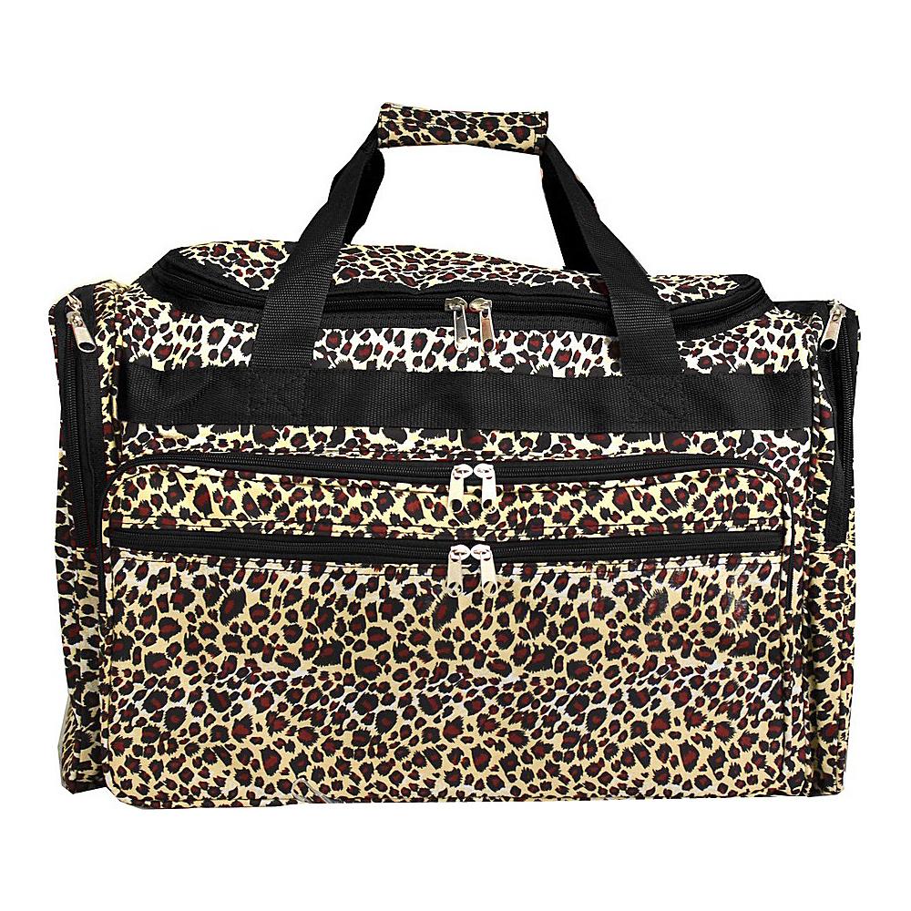 World Traveler Leopard 22 Travel Duffle Bag Leopard - World Traveler Rolling Duffels - Luggage, Rolling Duffels