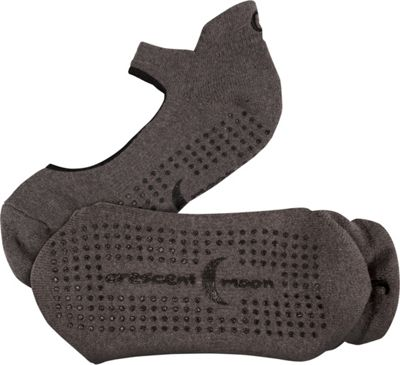 Crescent Moon Ballet ExerSock - 3 Pack S - Charcoal - Extra Large