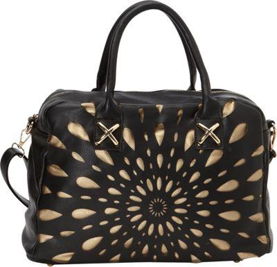 nu G Laser Cut Duffle Black - nu G Manmade Handbags
