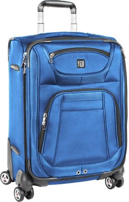 ful Sequential Series 21 inch Upright Spinner Carry-On Luggage Cobalt - ful Softside Carry-On