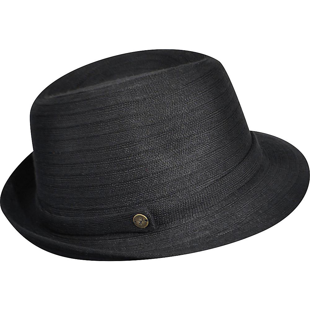 Karen Kane Hats Lux Braid Fedora Black Karen Kane Hats Hats Gloves Scarves