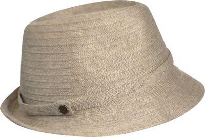 Karen Kane Hats Lux Braid Fedora One Size - Taupe Heather - Karen Kane Hats Hats/Gloves/Scarves