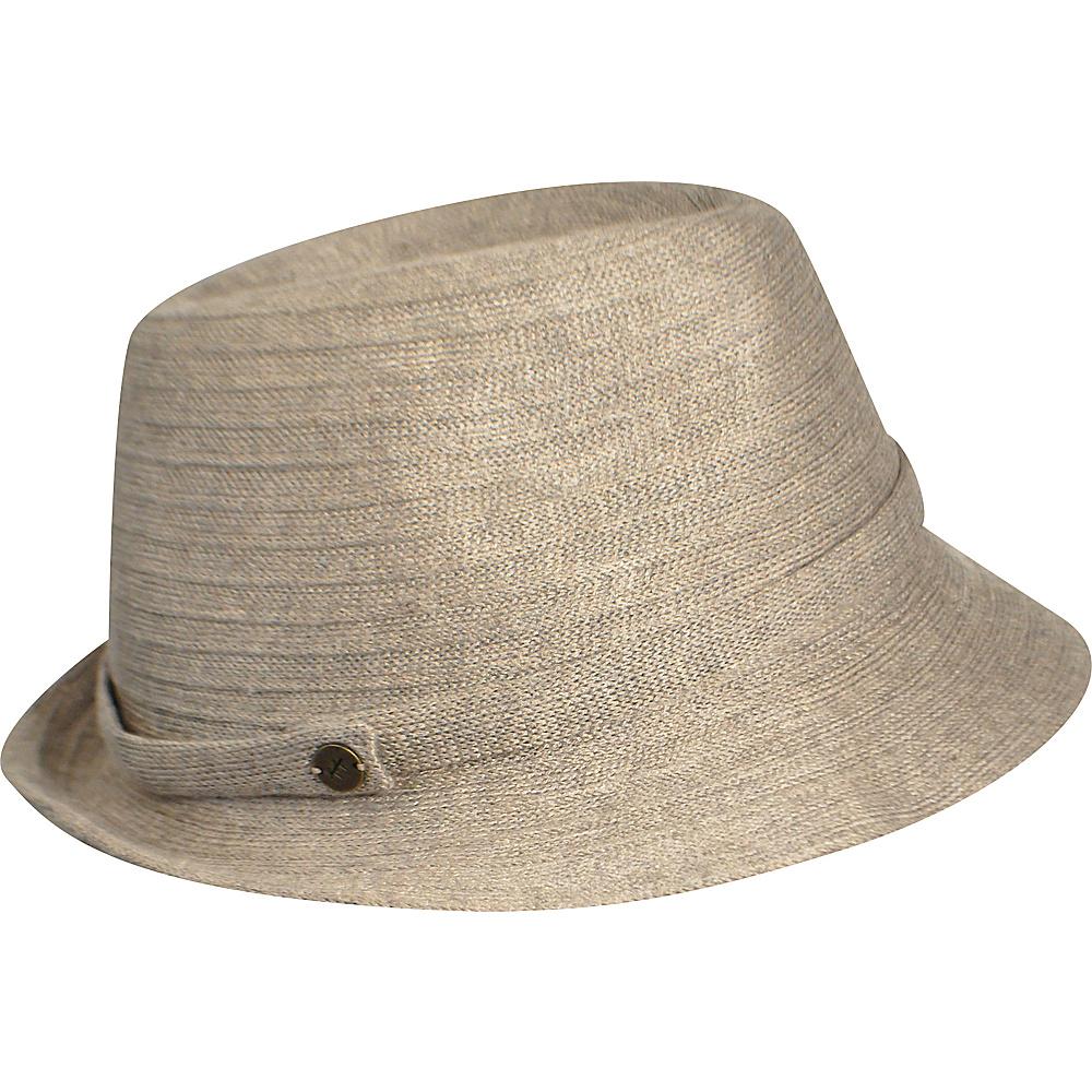 Karen Kane Hats Lux Braid Fedora Taupe Heather Karen Kane Hats Hats Gloves Scarves