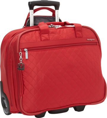 Hedgren Cindy Rolling Underseat Business Tote New Bull Red - Hedgren Wheeled Business Cases