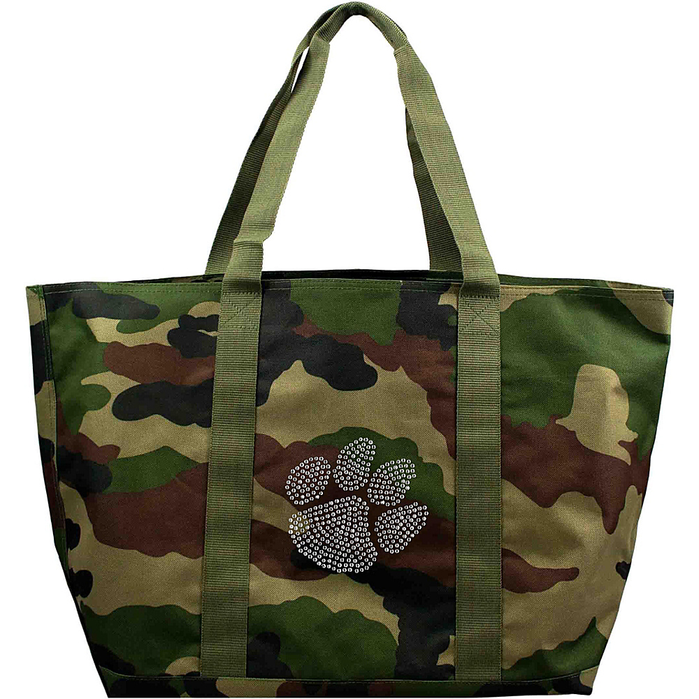 Littlearth Camo Tote - ACC Teams Clemson University - Littlearth Fabric Handbags - Handbags, Fabric Handbags