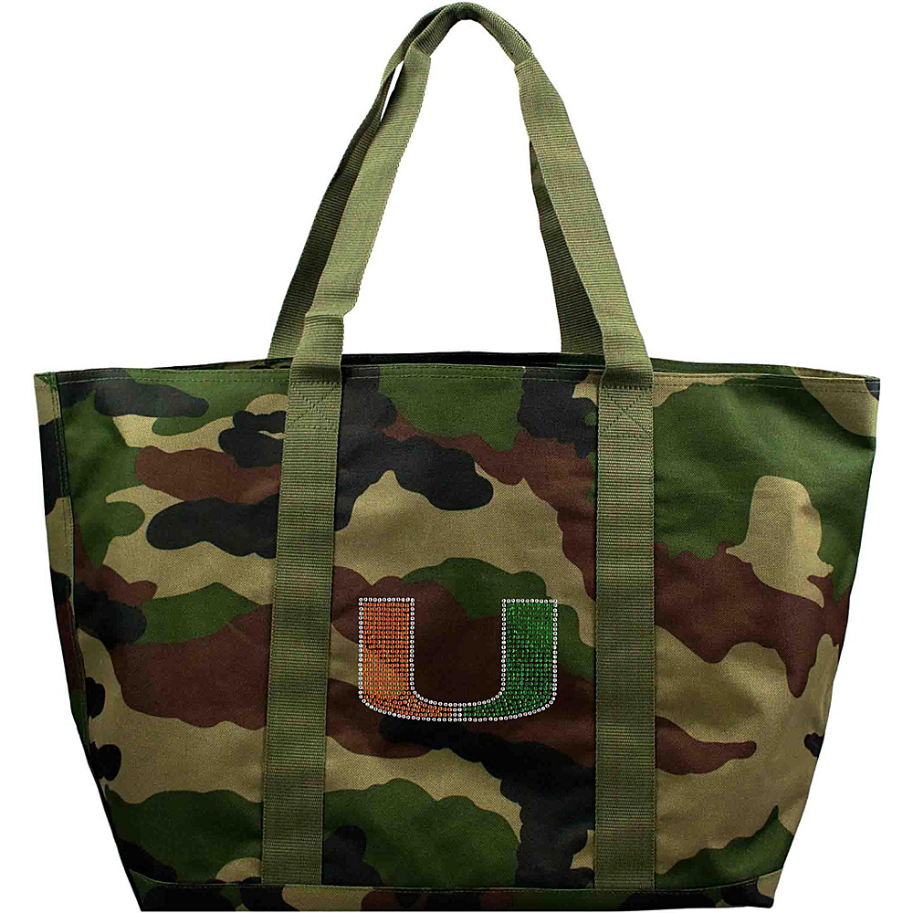 Littlearth Camo Tote - ACC Teams University of Miami - Littlearth Fabric Handbags - Handbags, Fabric Handbags