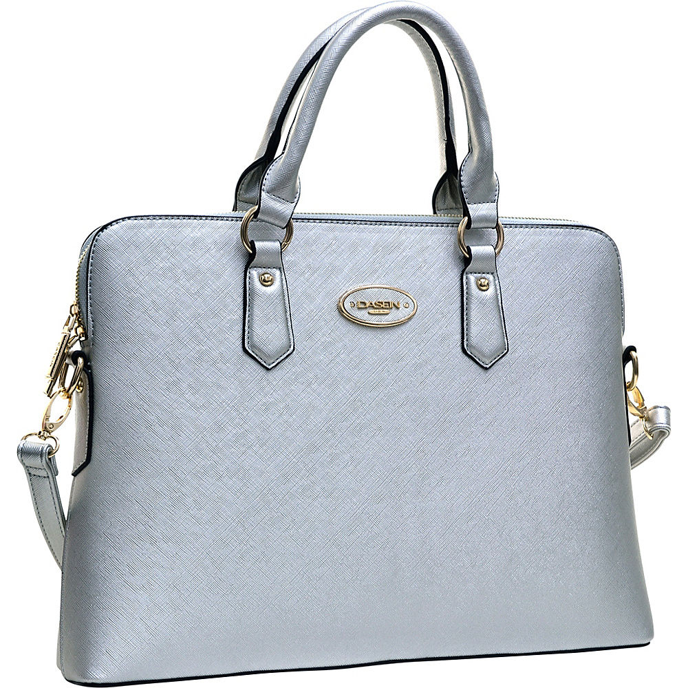 Dasein Slim Briefcase with Removable Shoulder Strap Silver - Dasein Gym Bags - Sports, Gym Bags