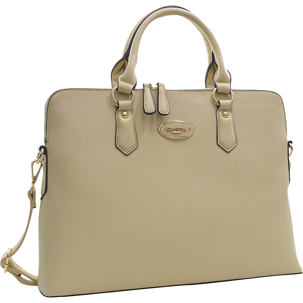 Dasein Slim Briefcase with Removable Shoulder Strap Beige - Dasein Gym Bags - Sports, Gym Bags