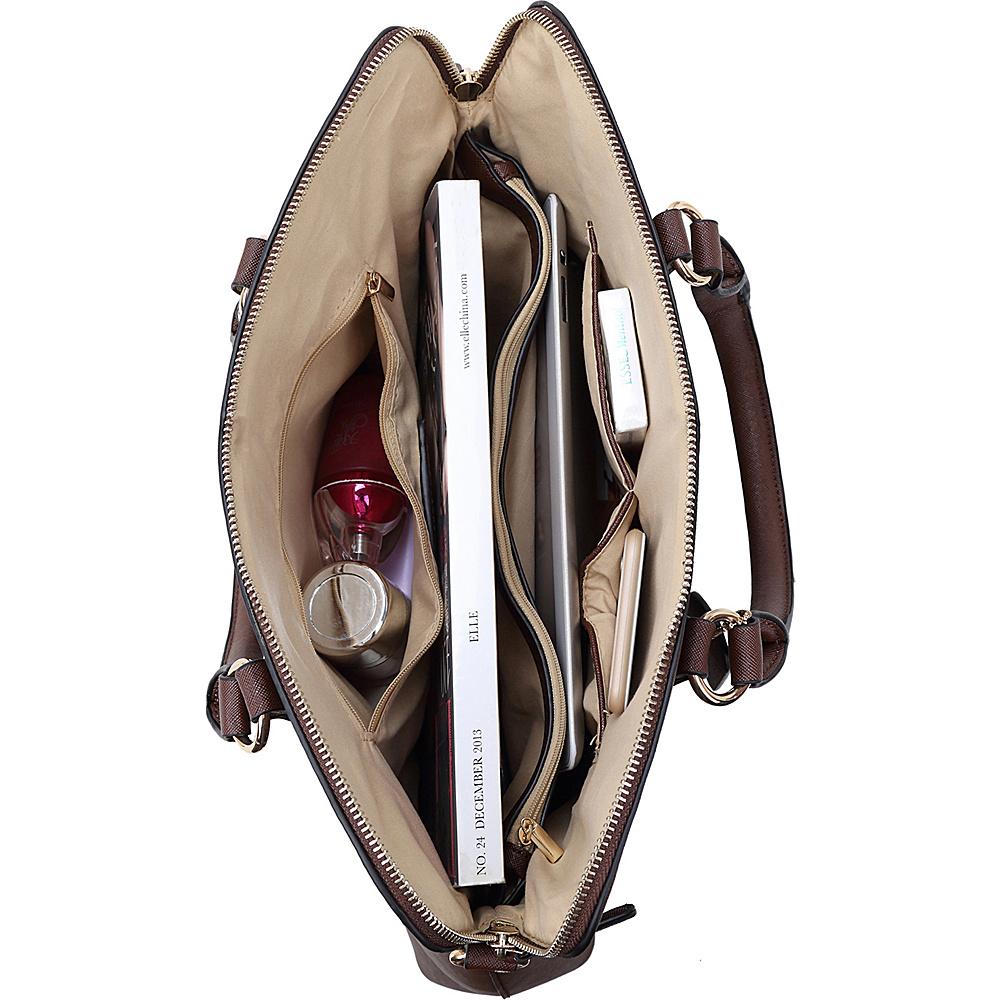 Dasein Slim Briefcase with Removable Shoulder Strap Dark Green - Dasein Gym Bags