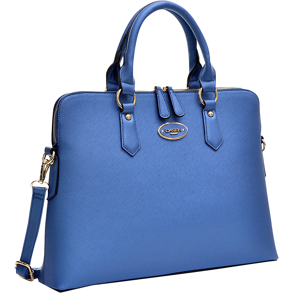 Dasein Slim Briefcase with Removable Shoulder Strap Blue - Dasein Gym Bags