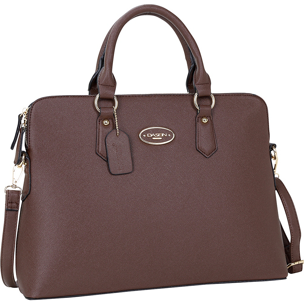 Dasein Slim Briefcase with Removable Shoulder Strap Dark Brown - Dasein Gym Bags