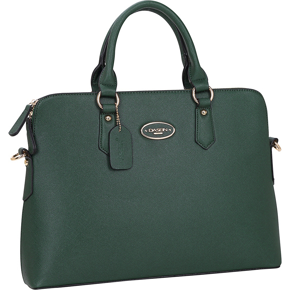 Dasein Slim Briefcase with Removable Shoulder Strap Dark Green - Dasein Gym Bags - Sports, Gym Bags