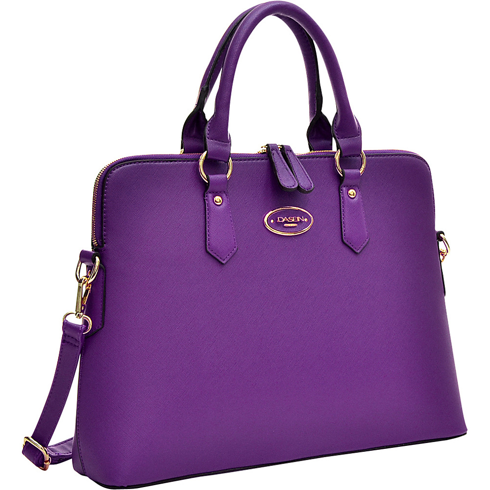 Dasein Slim Briefcase with Removable Shoulder Strap Purple - Dasein Gym Bags - Sports, Gym Bags