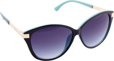 Nanette Nanette Lepore Sunglasses Accented Cat Eye Sunglasses Black/Turquoise - Nanette Nanette Lepore Sunglasses Sunglasses