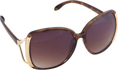 Nanette Nanette Lepore Sunglasses Accented Oversized Glam Sunglasses Brown/Mult/Gold - Nanette Nanette Lepore Sunglasses Sunglasses