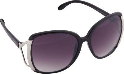 Nanette Nanette Lepore Sunglasses Accented Oversized Glam Sunglasses Black/Silver - Nanette Nanette Lepore Sunglasses Sunglasses