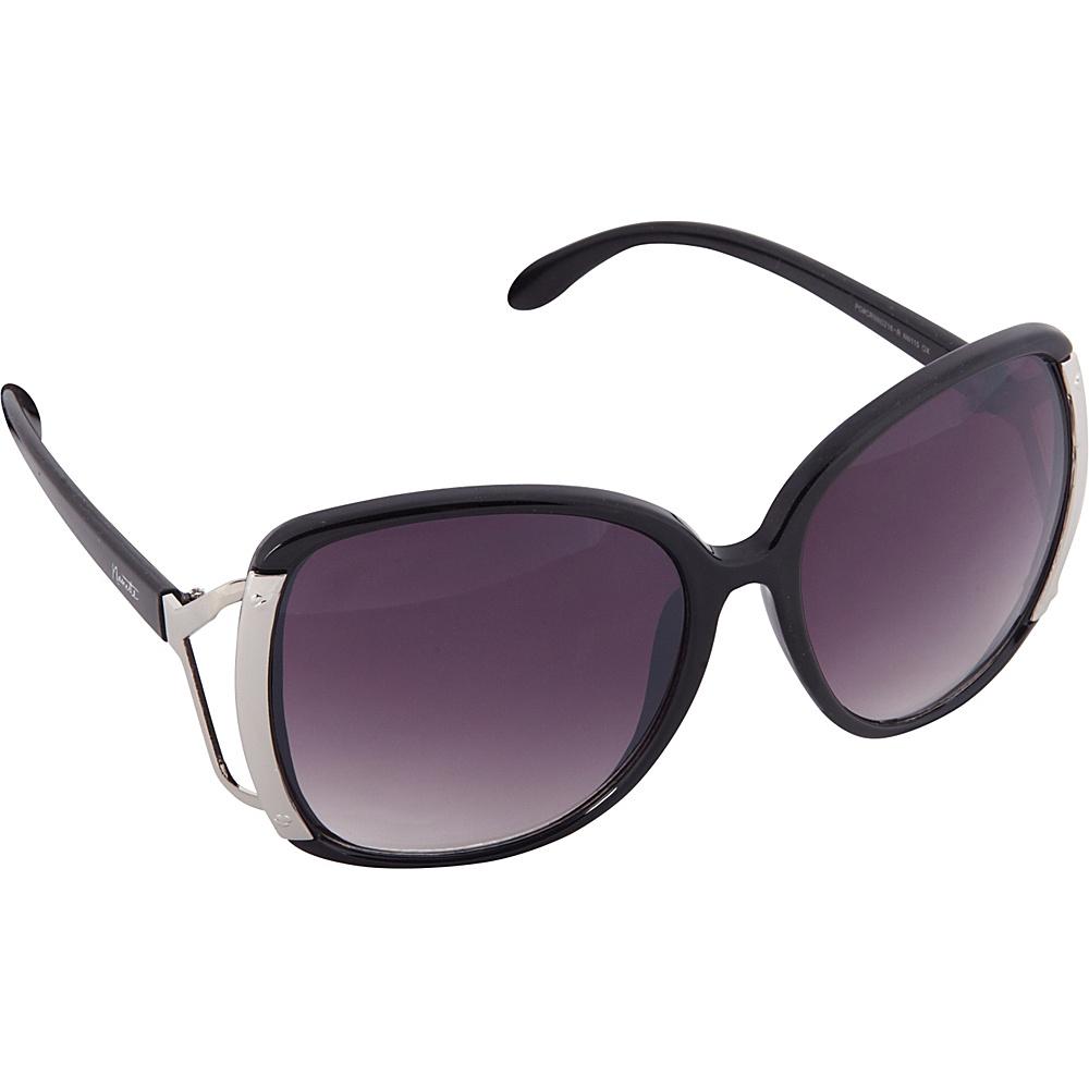 Nanette Nanette Lepore Sunglasses Accented Oversized Glam Sunglasses Black / Silver - Nanette Nanette Lepore Sunglasses Sunglasses