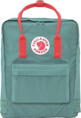 Fjallraven Kanken Backpack Frost Green-Peach Pink - Fjallraven Everyday Backpacks