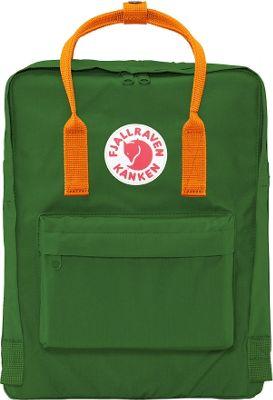 Fjallraven Kanken Backpack Leaf Green-Burnt Orange - Fjallraven Everyday Backpacks