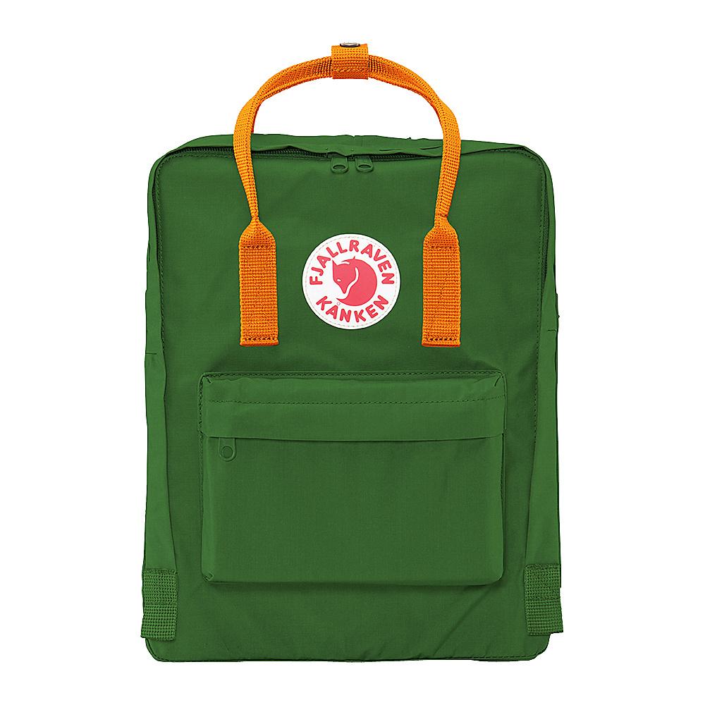 Fjallraven Kanken Backpack Leaf Green Burnt Orange Fjallraven Everyday Backpacks